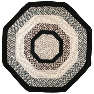 Green Mountain Onyx Granite Black Area Rug Rug Size: Octagon 8