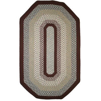 Green Mountain Famers Market Maroon Area Rug Rug Size: Elongated Octagon 6 x 9