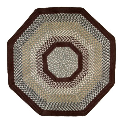 Green Mountain Femers Market Maroon Area Rug Rug Size: Octagon 10