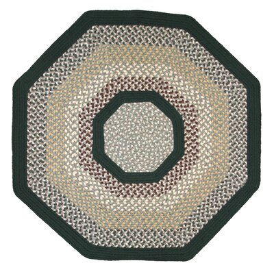 Green Mountain Balsam Fir Green Stripes Area Rug Rug Size: Octagon 4