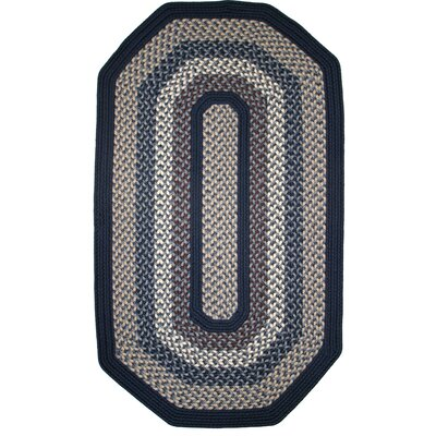 Green Mountain Lake Champlain Blue Area Rug Rug Size: Elongated Octagon 6 x 9