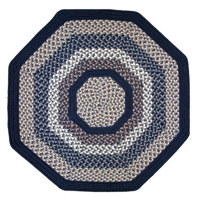 Green Mountain Lake Champlain Blue Area Rug Rug Size: Octagon 8'