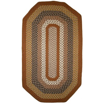 Green Mountain Maple Syrup Multi Elongated Octagon Brown Area Rug Rug Size: Elongated Octagon 8 x 10