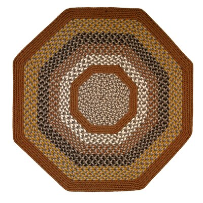 Green Mountain Maple Syrup Multi Octagon Brown Area Rug Rug Size: Octagon 10
