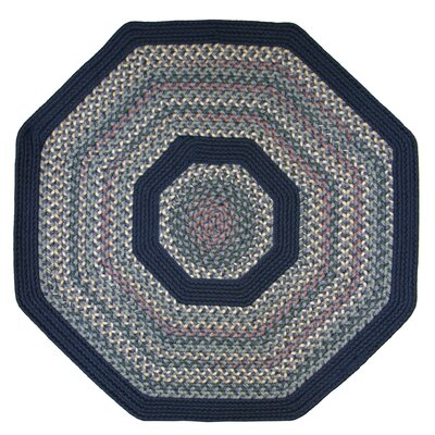 Pioneer Valley II Meadowland Blue with Dark Blue Solids Multi Octagon Outdoor Rug Rug Size: Octagon 4'
