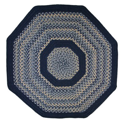 Pioneer Valley II Williamsburg with Dark Blue Solids Multi Octagon Outdoor Rug Rug Size: Octagon 8