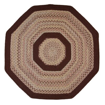 Pioneer Valley II Buckskin with Burgundy Solids Octagon Outdoor Rug Rug Size: Octagon 10