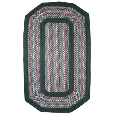 Pioneer Valley II Carribean Blue with Dark Green Solids Multi Elongated Octagon Outdoor Rug Rug Size: Elongated Octagon 9 x 12