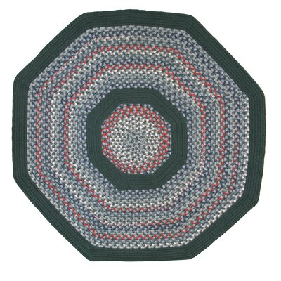 Pioneer Valley II Carribean Blue with Dark Green Solids Multi Octagon Outdoor Rug Rug Size: Octagon 10