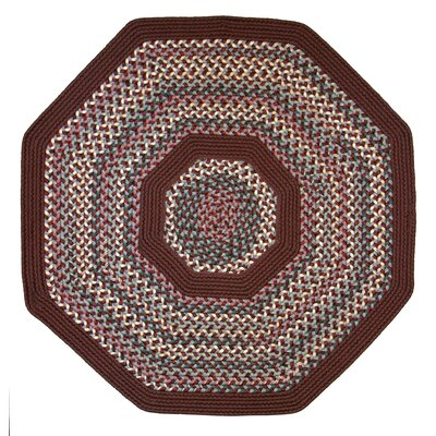 Pioneer Valley II Indian Summer with Burgundy Solids Octagon Outdoor Rug Rug Size: Octagon 6