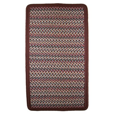 Pioneer Valley II Indian Summer with Burgundy Solids Braided Square Rug Rug Size: Square 8