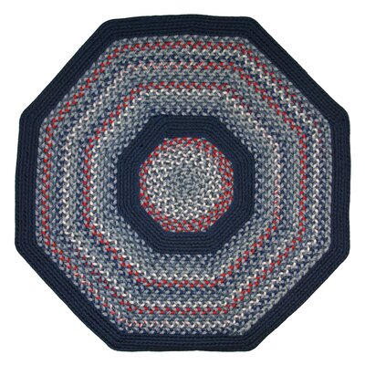 Pioneer Valley II Olympic Blue with Dark Blue Solids Multi Octagon Outdoor Rug Rug Size: Octagon 8