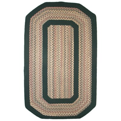 Pioneer Valley II Autumn Wheat with Dark Green Solids Multi Elongated Octagon Outdoor Rug Rug Size: Elongated Octagon 9 x 12