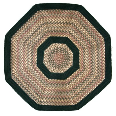 Pioneer Valley II Autumn Wheat with Dark Green Solids Multi Octagon Outdoor Rug Rug Size: Octagon 10