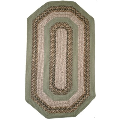 Beantown Boston Garden Elongated Octagon Green/Brown Area Rug Rug Size: Elongated Octagon 9 x 12