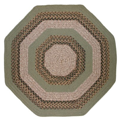 Beantown Boston Garden Octagon Green/Brown Area Rug Rug Size: Octagon 6