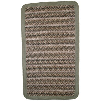 Beantown Boston Garden Green/Brown Area Rug Rug Size: Square 2