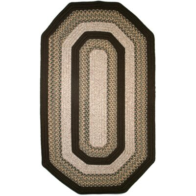 Beantown Baked Beans Brown/Green Area Rug Rug Size: Elongated Octagon 9 x 12