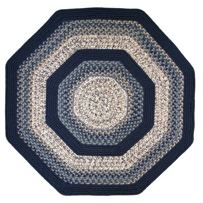 Beantown Charles River Tan/Blue Area Rug Rug Size: Octagon 4