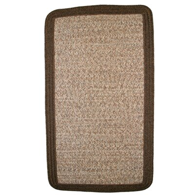 Town Crier Brown Heather with Brown Solids Indoor/Outdoor Rug Rug Size: Rectangle 4 x 6