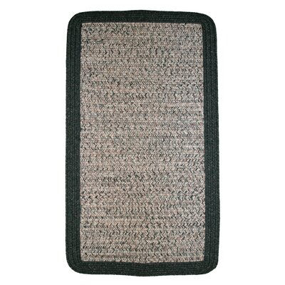 Town Crier Green Heather with Green Solids Indoor/Outdoor Rug Rug Size: Rectangle 2 x 3