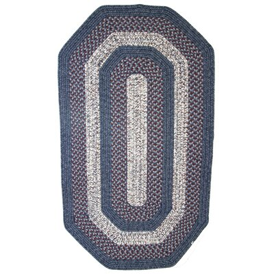 Town Crier Blue with Red Indoor/Outdoor Rug Rug Size: Elongated Octagon 4 x 6