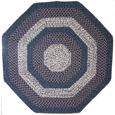 Town Crier Blue with Red Indoor/Outdoor Rug Rug Size: Octagon 8