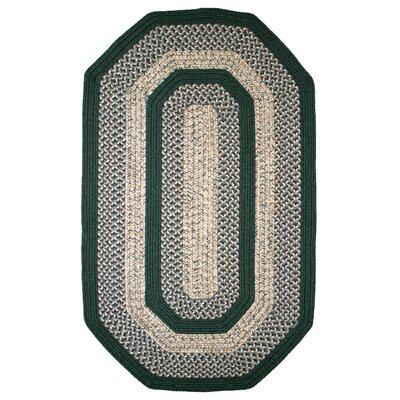 Town Crier Green Indoor/Outdoor Rug Rug Size: Elongated Octagon 6 x 9