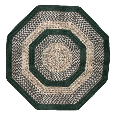 Town Crier Green Indoor/Outdoor Rug Rug Size: Octagon 8