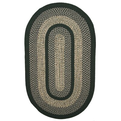 Town Crier Green Indoor/Outdoor Rug Rug Size: Oval 56 x 86