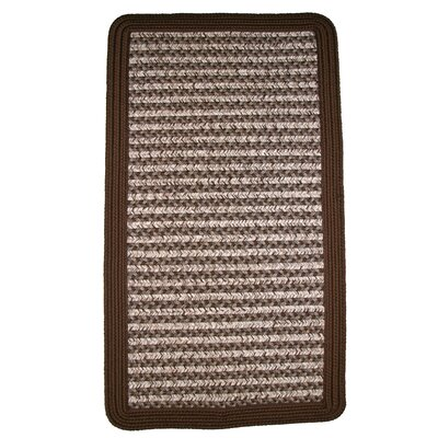 Town Crier Brown Indoor/Outdoor Rug Rug Size: Square 4