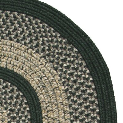 Town Crier Green Indoor/Outdoor Rug Rug Size: Round 6