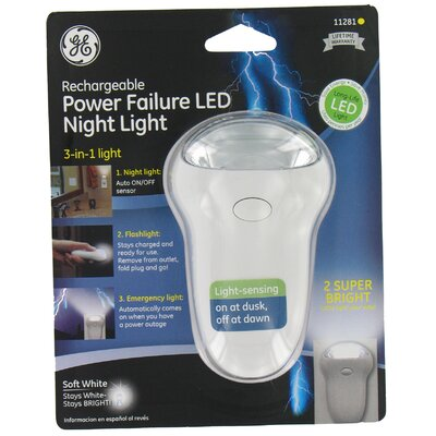 3 in 1 Rechargeable Power Failure LED Night Light