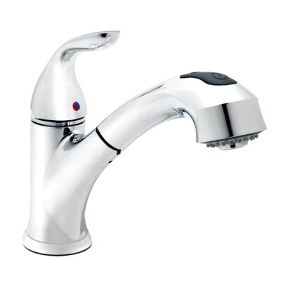 Essential Style Single Handle Pull Out Standard Kitchen Faucet