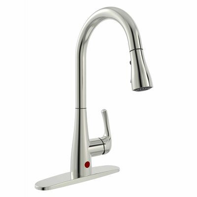 Essential Style Pull Down Touchless Single Handle Kitchen Faucet Finish: Brushed Nickel