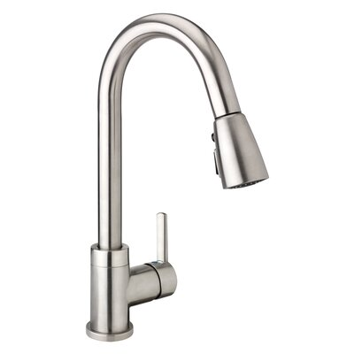Essential Pull Down Single Handle Kitchen Faucet Finish: Brushed Nickel