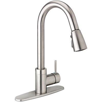 Belanger Pull Down Single Handle Kitchen Faucet Finish: Brushed Nickel