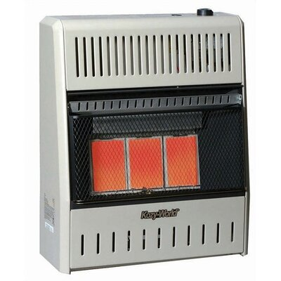 18000 Btu Infrared Wall Natural Gas Space Heater With Thermostat Heat Control Manual image