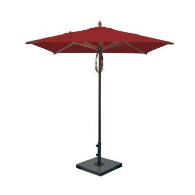 6.5 Square Market Umbrella Fabric: Jockey Red
