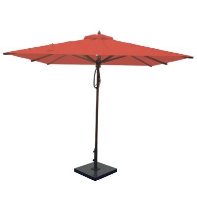 8 Square Market Umbrella Fabric: Jockey Red