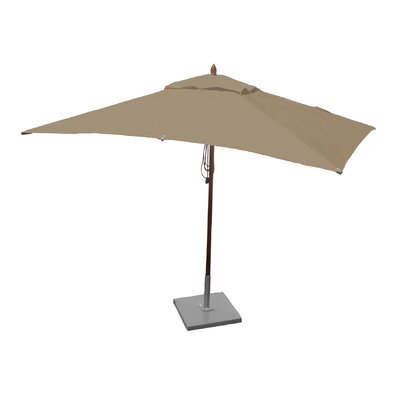 6.5 x 10 Rectangular Market Umbrella Fabric: Beige