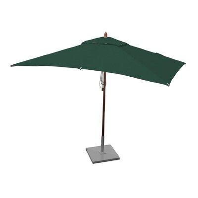 6.5 x 10 Rectangular Market Umbrella Fabric: Forest Green