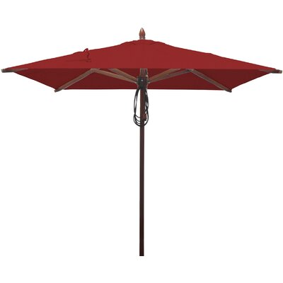 6.5 Square Market Umbrella Fabric: Jockey Red