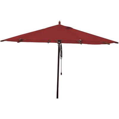 11 Market Umbrella Fabric: Jockey Red