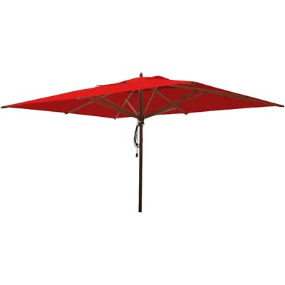 10 x 13 Rectangular Market Umbrella Fabric: Jockey Red
