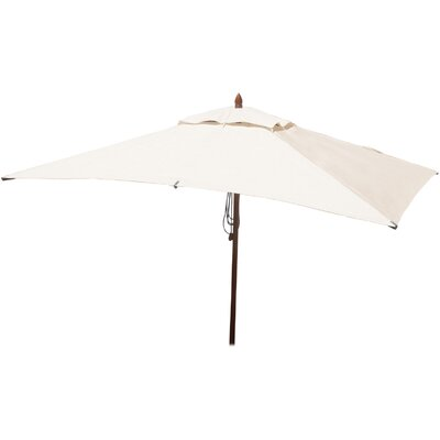 6.5 x 10 Rectangular Market Umbrella Fabric: Natural