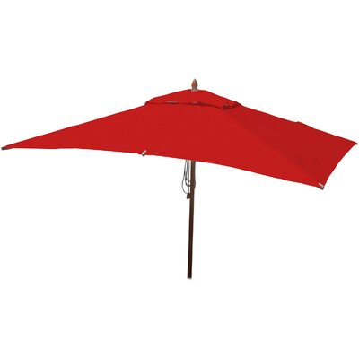 6.5 x 10 Rectangular Market Umbrella Fabric: Jockey Red