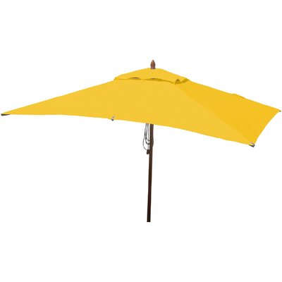 6.5 x 10 Rectangular Market Umbrella Fabric: Sunflower Yellow
