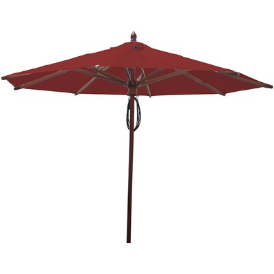 9 Market Umbrella Fabric: Jockey Red