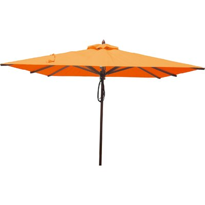 8 Square Market Umbrella Fabric: Orange
